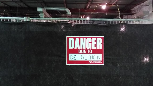"""Danger Due to Demolition"" #toronto #wallaceemerson #galleriamall #shoppingmall #demolition #sign #latergram"