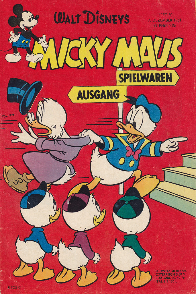 micky maus 501961  micky maus  heftreihe copyright