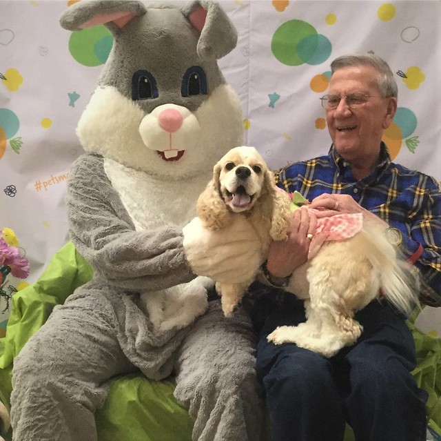Holly With The Easter Bunny
