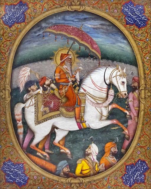 Ranjit Singh par Imam Bakhsh Lahori (Musée Guimet, Paris)