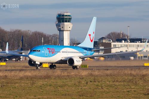 OO-JAR TUI Airlines Belgium Boeing 737-700, Maastricht Aachen Airport  - EHBK/MST   by neplev1