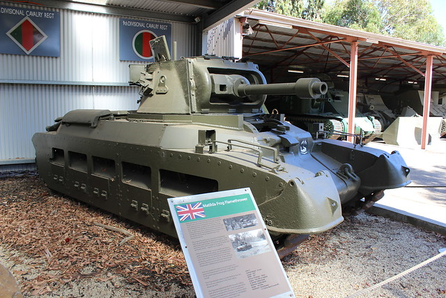 Matilda 'Frog' flamethrower tank, Army Tank Museum