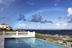 double rainbow off the coast of Anguila