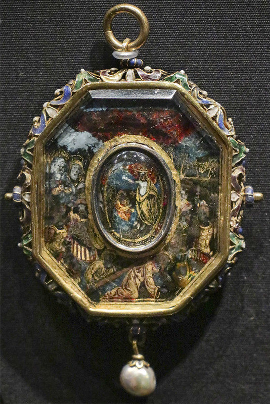 Pendant, Italy, about 1550-1600, frame 1600-20