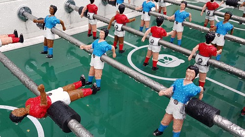 Rainy Foosball table