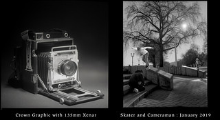 Crown Graphic 4x5 and Skater Being Filmed | by jimhairphoto