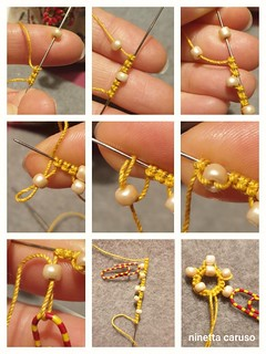 needle tatting and beads | by ninettacaruso