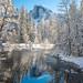 Yosemite Winter Half Dome Merced River Sentinel Bridge Fresh Snow Blue Skies Winter Storm Photography! Sony A7R III & FE 16–35 mm G Master Wide-Angle Zoom Lens SEL1635GM Winter Snow Fine Art!  Yosemite National Park Winter Snow California Landscape! by 45SURF Hero's Odyssey Mythology Landscapes & Godde