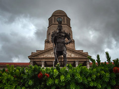 Monument to the leader of a local tribe. Pretoria, South Africa