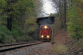 ME-1 passes under the old second main as it heads East toward Falconer, NY.