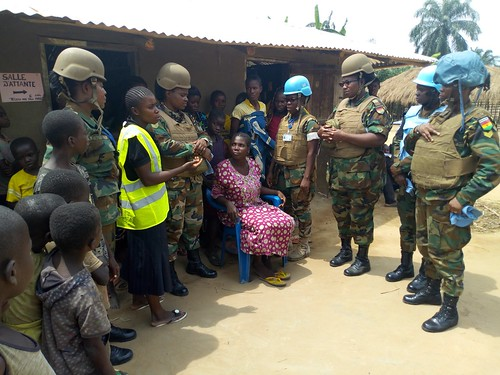 GHANBATT FET interact with some residents | by MONUSCO