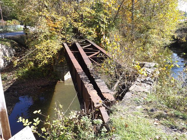 1of2 Views of Allison 1 works railroad bridge