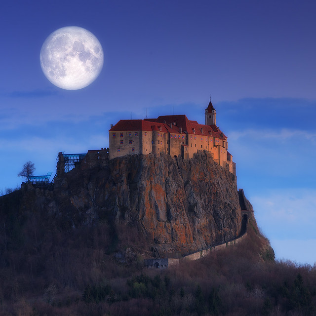 Moon over the castle