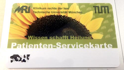 Patienten-Servicekarte Klinikum rechts der Isar TU München