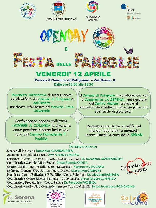 LOCANDINA OPEN DAY E FESTA DELLE FAMIGLIE