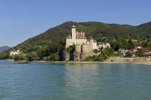 Danube River Scene at Melk