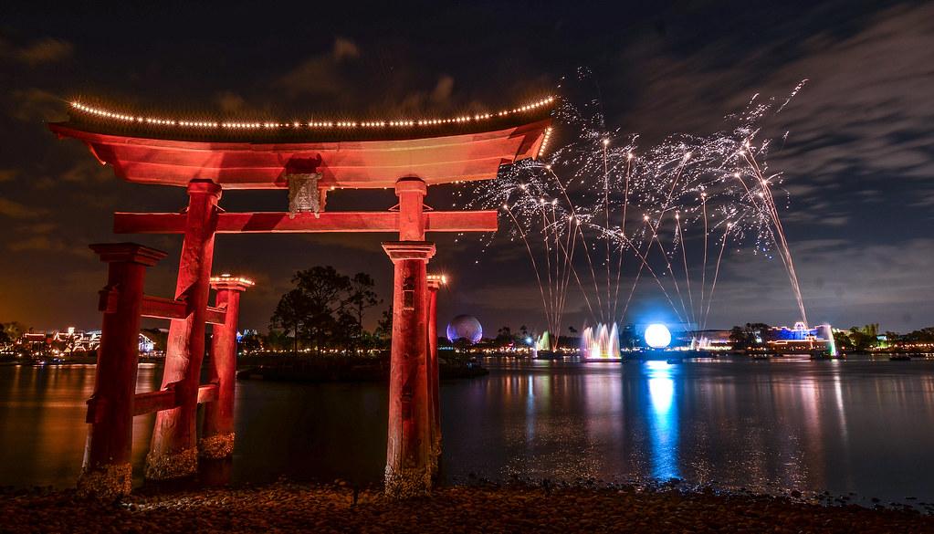 Japan torii gate Illuminations gold Epcot