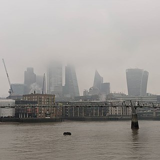 Grey London Skyline   by Dave Cross