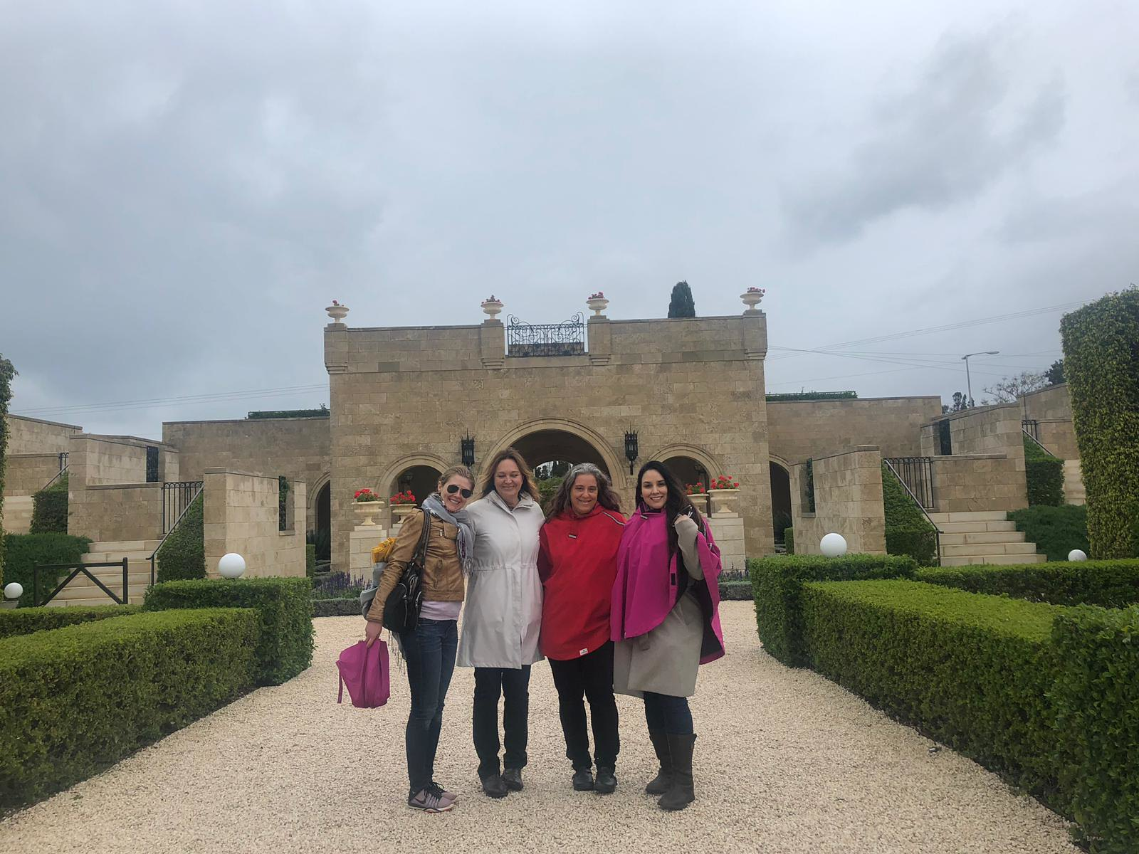 At the Baha'ii Gardens in Akko with My Fabulous Students! Florientals Week-Long Course, March 31 - April 4, 2019