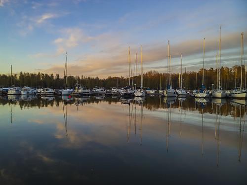 nokialumia1020 landscape waterscape sea boats sky clouds reflection calm marina seascape outdoors espoo finland mobilephotography