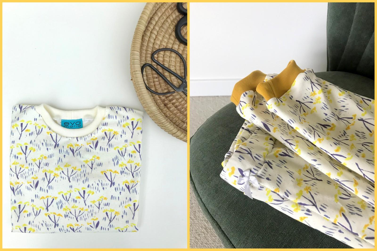 cornflower sweater + lazy London sweatpants
