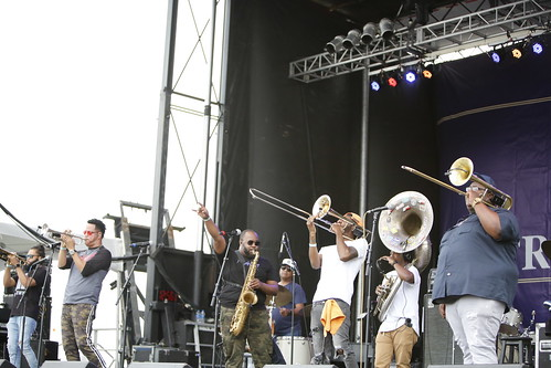 Soul Rebels at French Quarter Fest - 4.12.19. Photo by Michele Goldfarb.