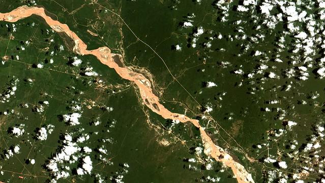 Rio / River Pilcomayo,  no / at Chaco na / in Bolívia