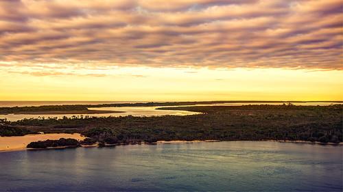 seasonal boat cloud lake landscapes seascape sunrise tidal victoria australia au