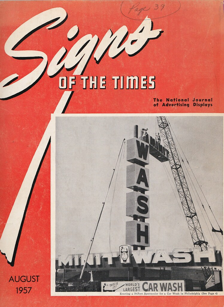 Signs Of The Times August 1957 Cover Featuring World S Lar Flickr