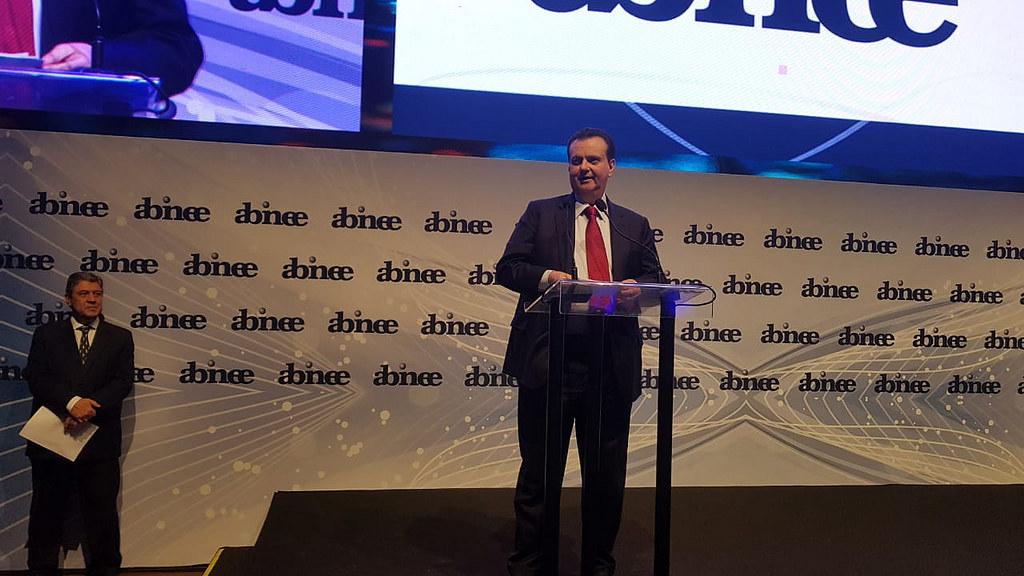 Ministro Gilberto Kassab participa do almoço anual da Abinee. 07/12/2018. São Paulo-SP. Foto: Célio Soares/MCTIC.
