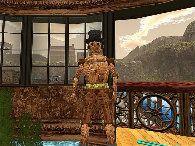 Steam: The Hunt XIV and Exposition - Robot Man Guards the Entrance