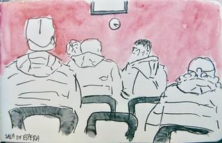 Sala de espera. Estación de Zabaikals (Rusia)