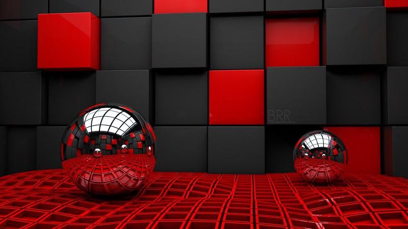 Обои шар, пара, куб, кубики, стекло, металл, пластмасса картинки на рабочий стол, фото скачать бесплатно