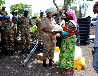 Lieutenant Colonel Tiisetso Sekgobela from South Africa serves with MONUSCO in the DRC | by United Nations Peacekeeping