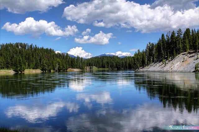 Reflections of Yellowstone River *A Beautiful Nature*