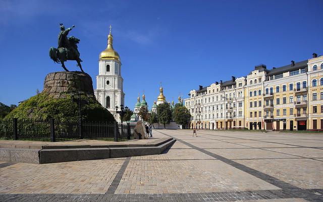 The beautiful Sophia Square In Kiev