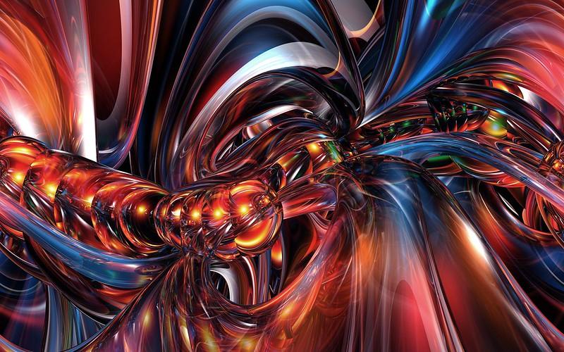 Обои фрактальный узор, фракталы, яркий картинки на рабочий стол, фото скачать бесплатно