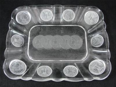 Central Glass Co. coin glas tray