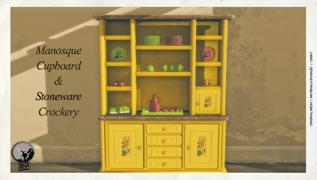 Manosque Cupboard & Stoneware Crokery @ The Chapter Four April