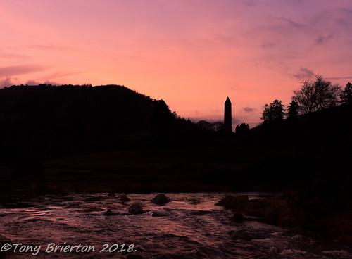 261218 cowicklow dusk glendalough lake roundtower