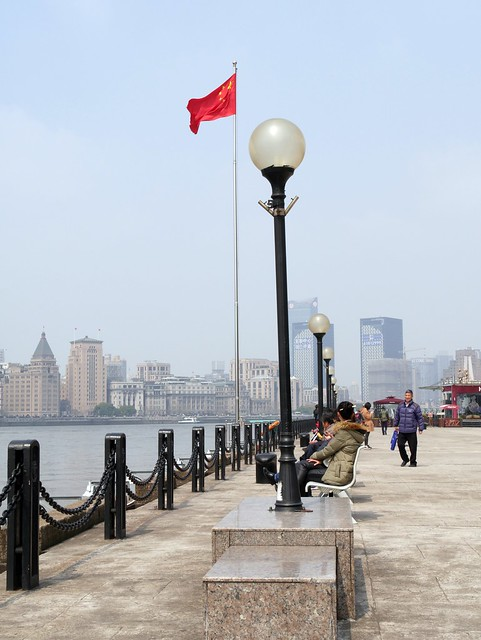 Walking at Pudong's promenade