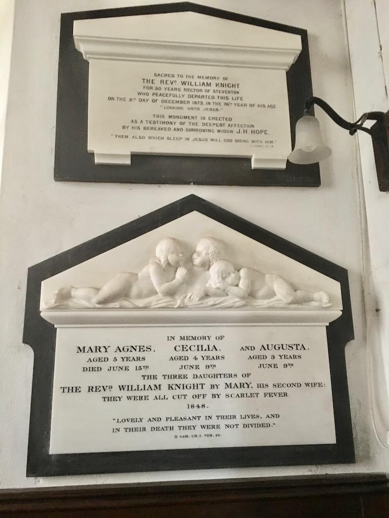 Knight memorials, Steventon Church Overton Circular walk