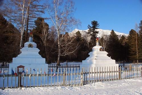 Stupas du Badkhirkharma dastan, temple bouddhiste d'Archan © Bernard Grua | by Photos de voyages, d'expéditions et de reportages