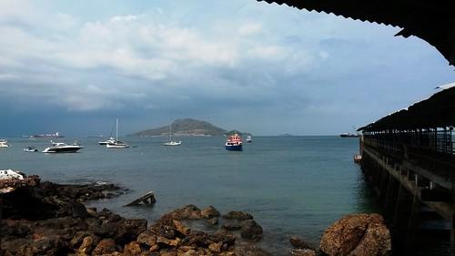 Der Pier der Insel Taboga