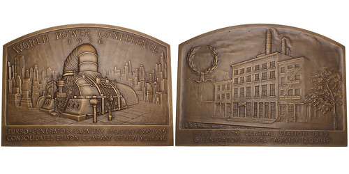 World Power Conference Bronze Plaque   by Numismatic Bibliomania Society