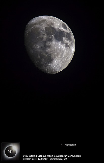 84% Waxing Moon & Aldebaran Conjunction 17/01/19