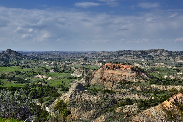 Eroded Buttes and Badlands Across Painted Canyon (Theodore Roosevelt National Park-South Unit)
