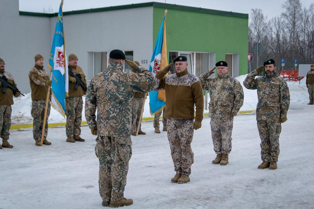 Zemessardzes 35. kājnieku bataljona komandiera maiņas ceremonija