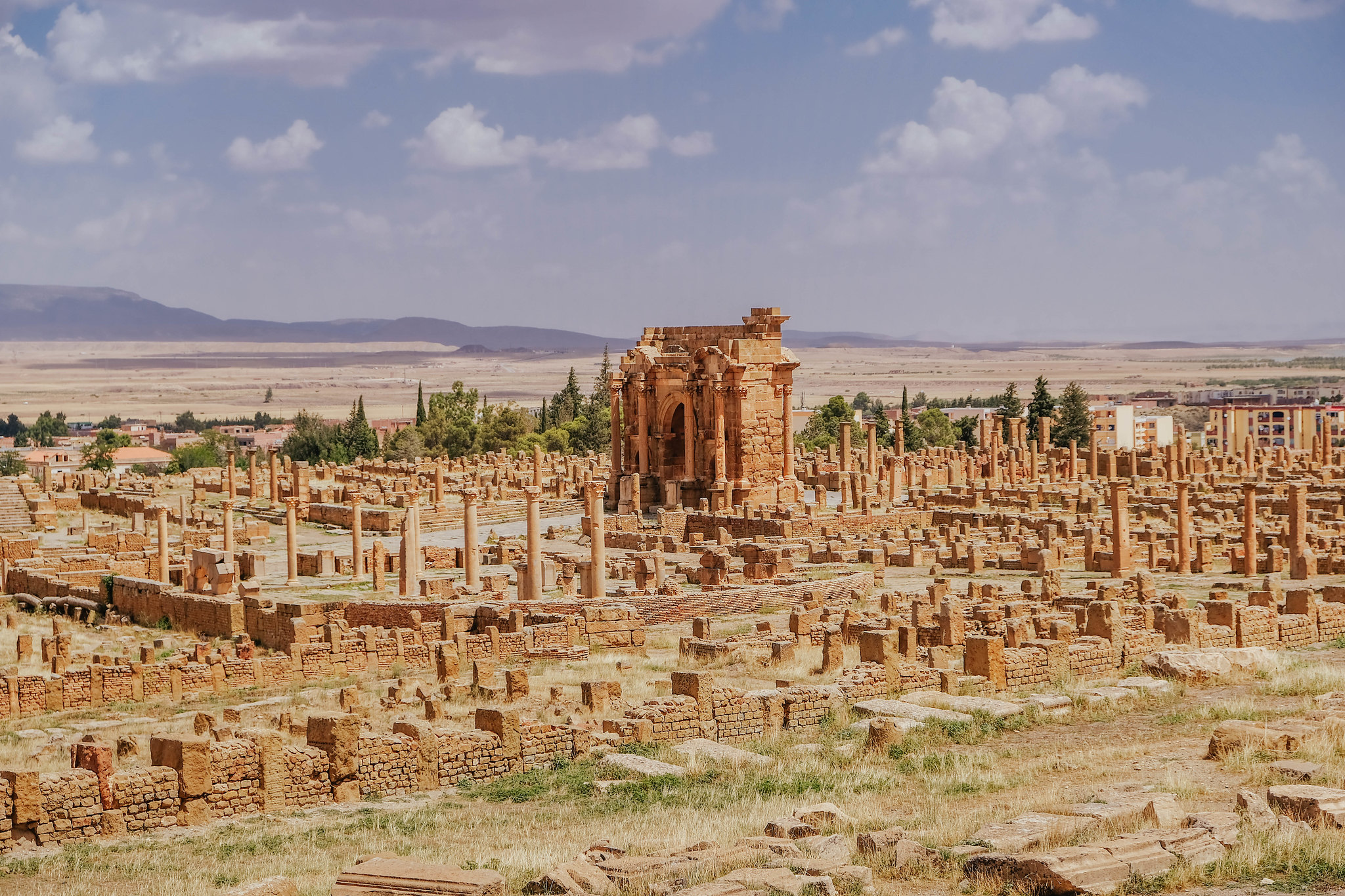 View over ancient Timgad