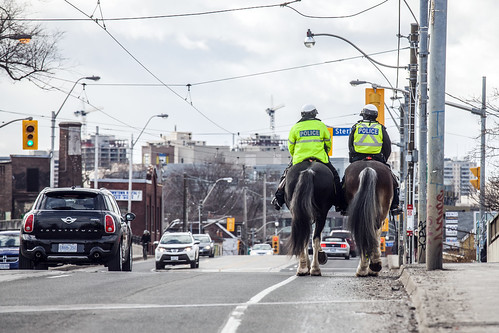 Mounted police on Dundas | by jer1961